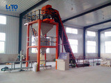 Automatic blending fertilizer production line